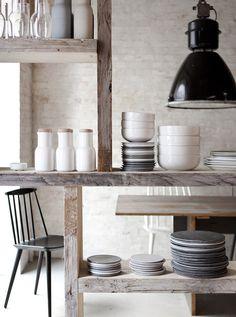 RestaurantHöst - a Denmark restaurant mix of Scandinavian farmyard and urban, minimalist decor