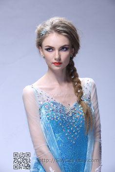 Elsa+Dress+Elsa+Costume+Frozen+Dress+Frozen+Costume+by+SayCay,+$139.00