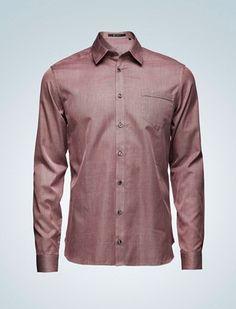 Deep Wine Cotton Shirt, Tiger of Sweden
