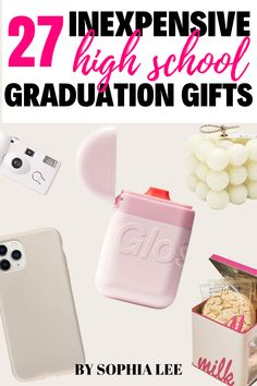 All of my friends are graduating this year and it is so expensive to buy gifts for all of them!! I am so happy I found this post because now I can get everyone a unique gift for under $20! Outdoor Graduation Parties, High School Graduation Gifts, Graduation Party Decor, Graduate School, Party Ideas, Gift Ideas, Friends, Happy, Unique