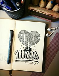 Ame (de) mais. Letter - type - lettering - fonts - caligraphy - design - sketchbook - inlove - typespire