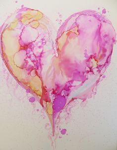 Heart. Alcohol Ink on Yupo - Helen Cook