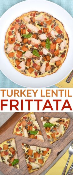 Protein-Packed Turkey Lentil Frittata is a healthy meal the whole family will enjoy for breakfast, lunch or dinner. This frittata recipe is a winner! Breakfast Recipes, Dinner Recipes, Entree Recipes, Turkey Recipes, Brunch Recipes, Breakfast Ideas, Gourmet Recipes, Healthy Recipes, Healthy Meals