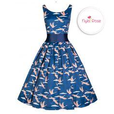 f178f605f4de Polka Dots. See more. Lindy Bop Blue Bird Lana Dress £36 <3 nyla-rose.com