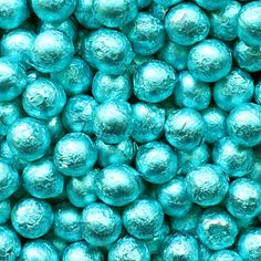 """Sweet and delicious """"Tiffany Blue Foil Chocolate Balls - 2 Lbs"""" from Give in to Temptation! Tiffany Blue Color, Aqua Color, Teal, Blue Wedding, Diy Wedding, Wedding Shit, Wedding Ideas, Snow Theme, Blue Candy"""