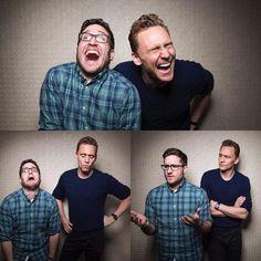 Joshua Horowitz: Happy/Sad/Confused. With Tom Hiddleston. #crimsonpeak #happysadconfused #tomhiddleston Photo: @colindouglasgray