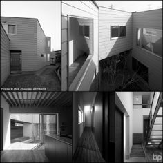 House In Hori 2013 - Nakasai Architects. Site that has a distorted form in the areas where housing is dense, has existed in the manner of the margin of this area.Field once, Koi ..., not been used for many years as residential land is the old days, handle this margin in a residential four-way I can see the window placement is highly recommended that. - at Hori, Toyama, Toyama Prefecture, Japan.