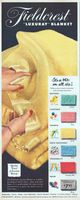 Fieldcrest Luxuray Blanket 1950 Ad Picture