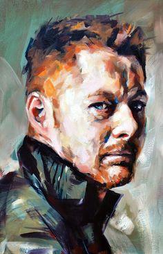 South Africa artist Floris Van Zyl | Self Portrait