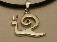 Silver Snail Pendant, Kapolcs Pendant, Silver Necklace, Silver Jewelry