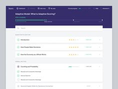learn. design ux ui interface web dashboard