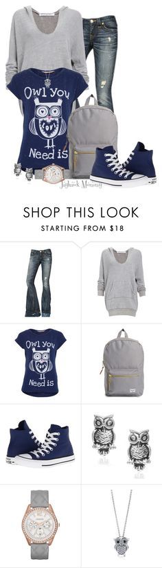 """""""Owl You Need For Finals"""" by jayhawkmommy ❤ liked on Polyvore featuring True Religion, Project Social T, A