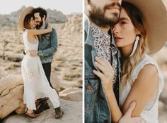 Joshua Tree Engagement Photos // Casey, aka Officially Quigley, her fiancé Alex and I woke up at 5am to catch sunrise over the desert.