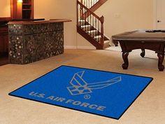 United States Air Force 5 x 8' Decorative Plush Area Rug Floor Mat