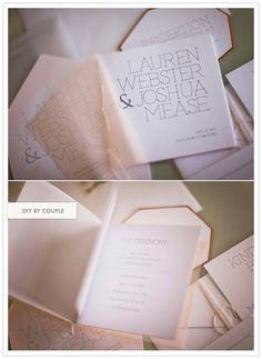 simple modern wedding invites