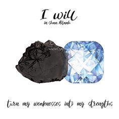 i will in shaa Allah turn my weaknesses into my strengths #iwillinshaAllah  Most Common Strengths and Weaknesses (+ How to Utilize/Overcome Them) | AYEINA