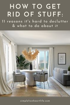 How to get rid of stuff: 11 reasons why it's hard to declutter & what to do about it. Often, once you better understand why you're struggling to declutter it becomes a lot easier to let go of the clutter from your home. These are common decluttering struggles many of us face. Learn how to make getting rid of stuff a lot easier by knowing exactly what is holding you back. #simplelionheartlife #declutter #decluttering #declutteringtips #declutteryourhome #howtogetridofstuff #whyit'shardtodeclutter House Cleaning Tips, Cleaning Hacks, Organizing Tips, Organization, Family Schedule, Housekeeping Tips, Home Management Binder, Mom Group, Declutter Your Home
