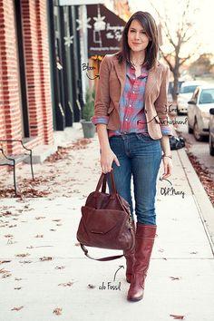 plaid shirt/jacket combo