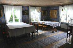 Mid 19th century log house interior, Sweden