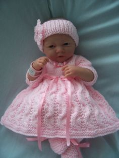 Hand Knitted Dolls Clothes Set by LookWhatMumsMade on Etsy, Knitting Dolls Clothes, Crochet Doll Clothes, Knitted Dolls, Double Knitting, Baby Knitting, Crochet Baby, Doll Patterns, Knitting Patterns, Girl Dolls