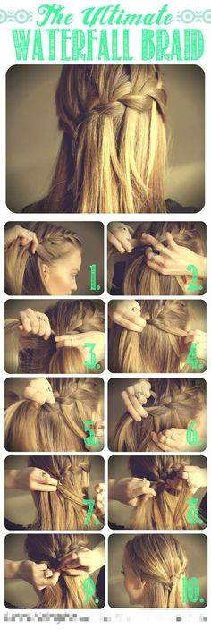 I am in LOVE with the waterfall braid :Hair DIY .Need a ghd hair straightener first