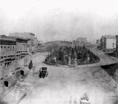 Looking Northeast at South Park from 3rd Street - San Francisco, CA, USA, 1866