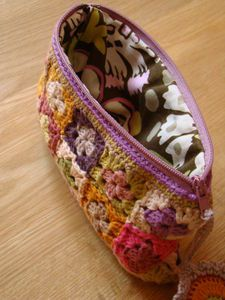 Adorable mini granny square clutch