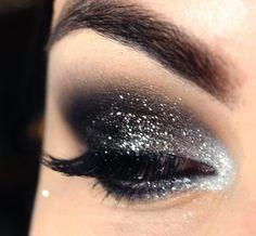 Tutorial - glitter preto com prata