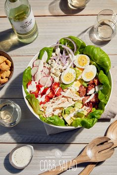 Eating more color is good for you. Pair this Cobb salad with Sutter Home Sauvignon Blanc and let the sun shine.