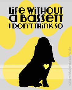 Life without Dogs - Bassett Beagle Boxer Bulldog Pitbull ANY BREED. Choose Fine Art, Gallery Wrapped Canvas or Bamboo Mount on Etsy, $18.00