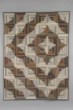 A Curved Log Cabin Quilt Picture For Pat W - - note that the more common arrangement is centered, but then we're a bit off kilter so I thought this appropriate!