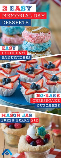 Memorial Day just got a whole lot sweeter! Check out these three delicious and patriotic desserts, perfect for your Memorial Day celebration!