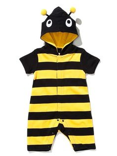 People.com: Cute critter alert! Your little fly guy will love buzzing around the block in this black and yellow ensemble. We bet even Queen Bee (and mom!) Ali Larter would be impressed.   Buy It Now! Bumble Bee Character Romper, $33, lazoo.com