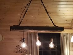 Lamp on timber and chsin