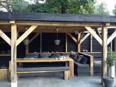 Tolle Idee für eine Bar/Küche im Garten mit Sitzecke und Schuppen ...