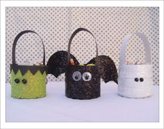 paper treat buckets to hang on tree - cute!!!