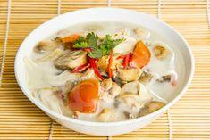 Thai Chicken Galangal in Coconut Milk Soup http://chefleez.com Thai cooking class in Bangkok