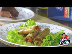 Canelones Doria rellenos de Queso y Verduras