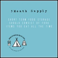 Your 3 month supply is food you eat on a regular basis. I can show you how easy it is to do this! Emergency Food Supply, Disaster Preparedness, Food Items, Food Storage, 3 Months, Canning, Canned Foods, Day, Pantry
