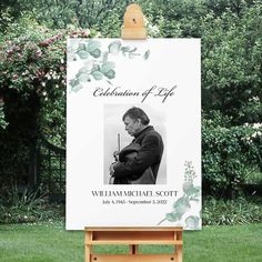 Celebration-of-life-welcome-sign