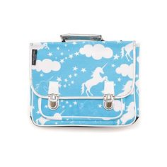 Blue unicorn schoolbag by Le petit caramel