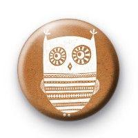 Wide Eyed Owl Badges  Button Badges £0.85