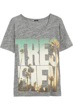 J.Crew Très Bien linen-jersey T-shirt NET-A-PORTER.COM