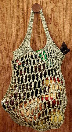 Crocheted Reusable Grocery Bag by Cassie Edwards