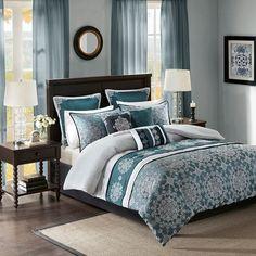 Wesson 9 Piece Jacquard Comforter Set Madison Park