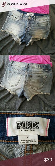 vs - pink - cutoff jean shorts victoria's secret - pink - cutoff jean shorts PINK Victoria's Secret Shorts Jean Shorts