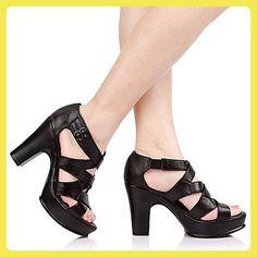 RUGAI-UE La mode des femmes d'été confortables sandales à talons hauts, talons 10.5cm blanc 37