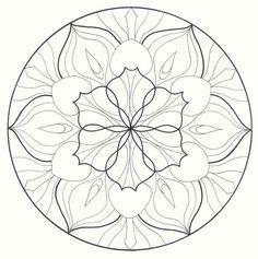 Blumen Mandala Zum Ausmalen
