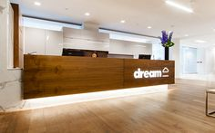 DREAM is the master brand for Dundee Realty Corp in Canada. Great branding! This would be cool in an urban multifamily office to brand the name of the apartment community. [Property Management, Real Estate] #NerdMentor