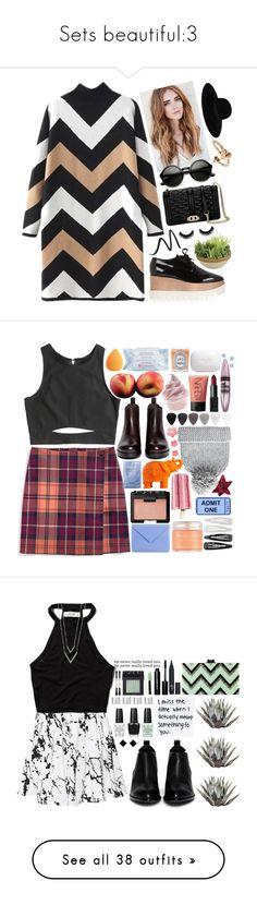 """Sets beautiful:3"" by sta-styles ❤ liked on Polyvore featuring STELLA McCARTNEY, Eyeko, Picnic at Ascot, Rebecca Minkoff, Maison Michel, Alex and Ani, women's clothing, women, female and woman"